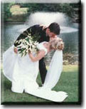 Bride and groom kissing wedding pictures